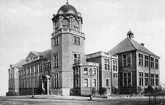 Blackpool Grammar School c1918 (now the Salvation Army Citadel).