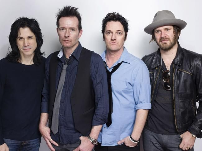 Arrested for drug possession ... Tommy Black, left, pictured with Scott Weiland, Jeremy Brown and Danny Thompson of The Wildabouts.Source:AP