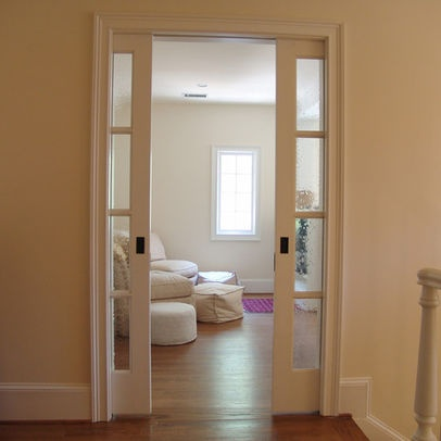 Pocket Double Doors Into Master Bath Home French