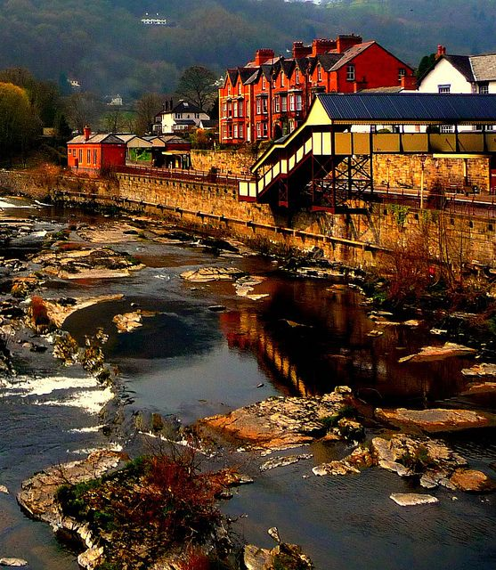 llangollen,denbighshire,wales. Had tomato soup and grilled cheese sandwiches here on a cold one cold and rainy day. So cozy.