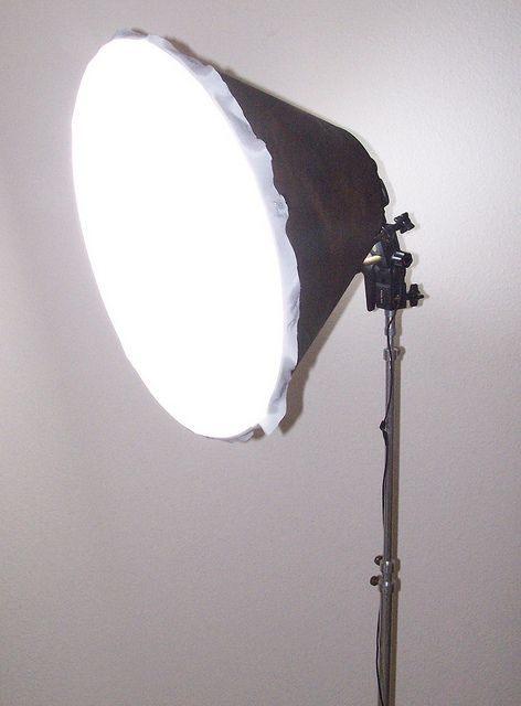diy soft box from lamp shade
