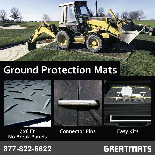 Ground Protection Mats Are The Best Alternative To Using Plywood For Construction And Landscaping Equipment Ground Protection Protection Landscaping Equipment