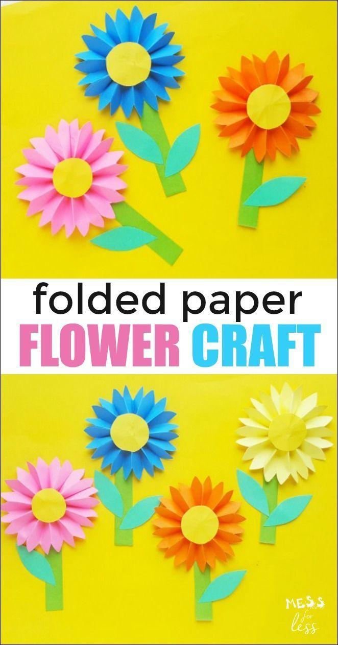 Paper Flower Craft Flower Crafts Kids Paper Flowers For Kids