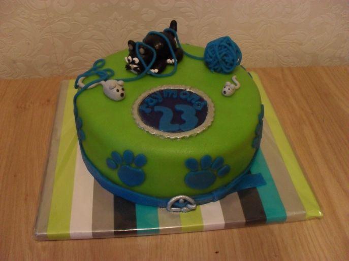 Groene taart Kat en Muis