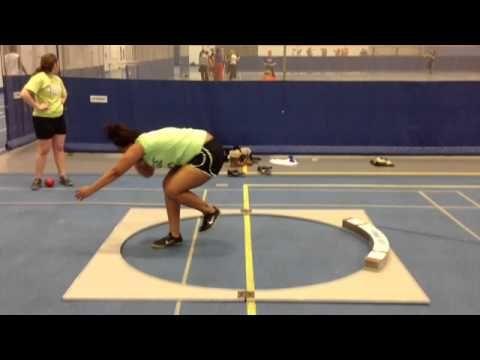 Shot Put Glide Technique - Tierra Wilson Glenbard South High School 4/23/13 - YouTube