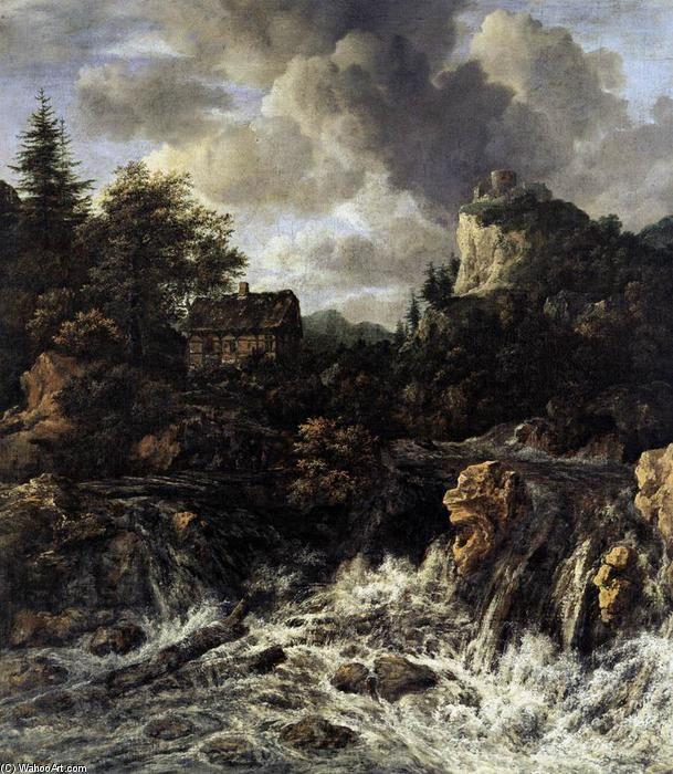 La chute d eau (2), huile sur toile de Jacob Isaakszoon Van Ruisdael (Ruysdael) (1628-1682, Netherlands)