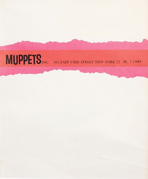 Famous letterheads - The Muppets, 1963