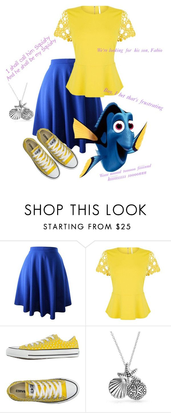 """""""Finding Dory"""" by violetrosesrt ❤ liked on Polyvore featuring Karen Millen, Converse and Bling Jewelry"""