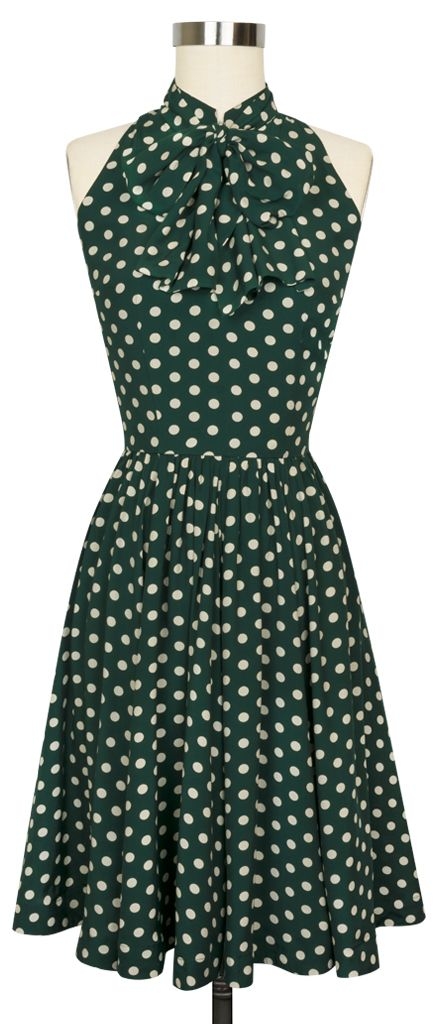The Trashy Diva Streetcar Dress in Irish Polka!
