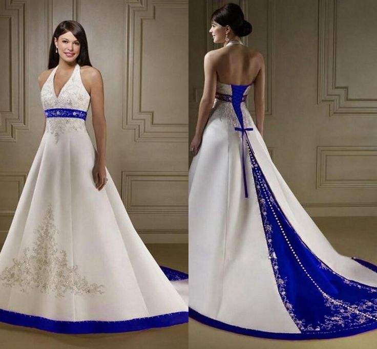 Vintage White And Blue Embroidery Wedding Dresses A Line 2016 Straless Court Train Lace Up Back Saudi Arabic Bride Bridal Gowns Custom Made Royal Wedding Dresses Unusual Wedding Dresses From Sarabridal, $152.77| Dhgate.Com