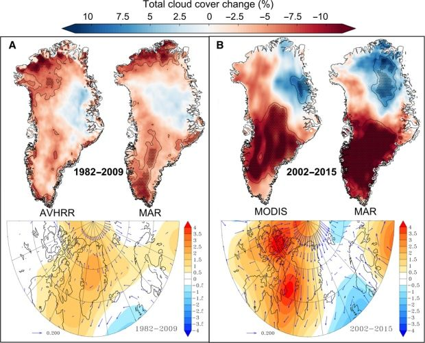 More summer sun accelerating Greenland ice melt, study says   Scientists at the University of Bristol in the United Kingdom suggest increasing sunshine over the past 20 years is accelerating ice melt across Greenland. The findings in their new study are concerning, as Greenland's ice sheet is 1.7 million square kilometres. If all of the ice sheet melted, its estimated that global sea levels could ...