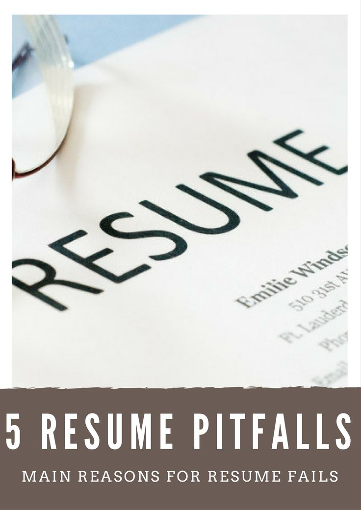 5 Reasons for Resume Pitfalls infographic #Resume #Pitfalls #ResumeFails