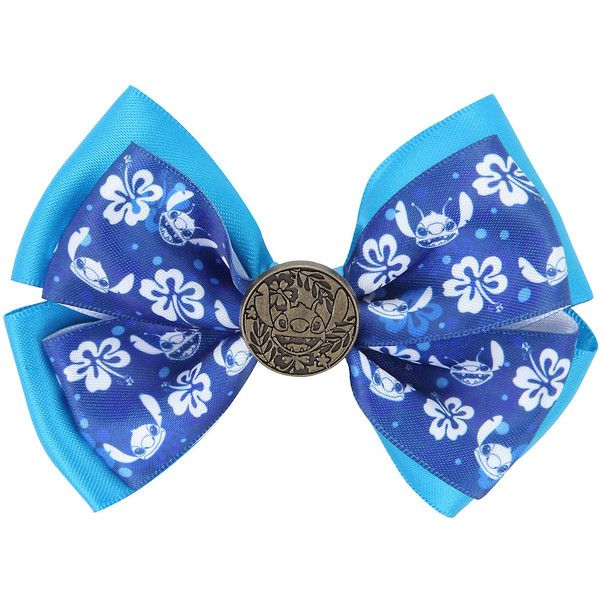 Disney Lilo Stich Hair Bow Hot Topic (£5.49) ❤ liked on Polyvore featuring accessories, hair accessories, bow, hair, hawaiian flower hair accessories, hawaiian hair accessories, disney, hair bows and disney hair bows