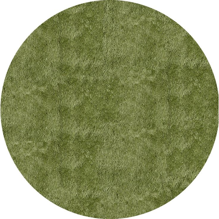 Momeni Luster Shag Apple Green Hand-Tufted Shag Rug (4' X 4' Round) (Handmade Posh Apple Green Shag Rug (4' x 4' Round)), Size 4' x 4' (Polyester, Solid)