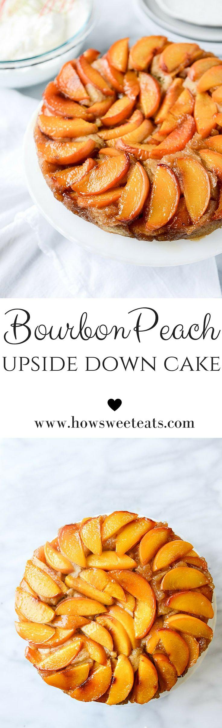 bourbon peach upside down cake by @howsweeteats I howsweeteats.com