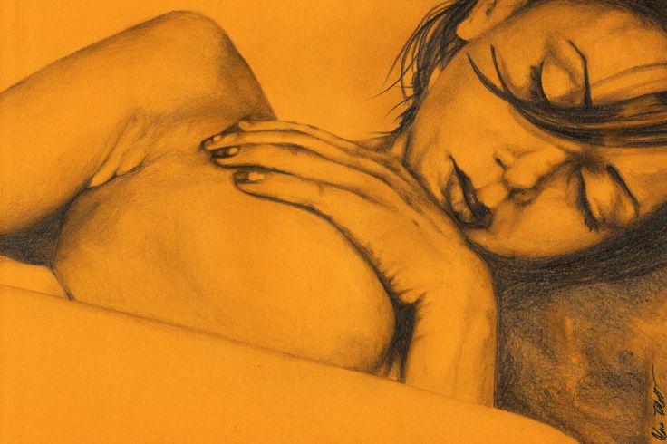 """""""As Heaven Awaits"""" original drawing • SHOP: https://www.etsy.com/it/listing/183204920/disegno-a-mano-disegno • #art #arte #disegno #drawing #nudodidonna #nudefemale #nudewoman #portrait #ritratto #matita #pencil #graphite #originaldrawing #disegnoriginale #etsy #erotic #erotica #ochre #ocra #capelli #hair #traditionaldrawing #disegnotradizionale #kissmyart #ragazza #girl #donna #woman #wallart #smallwallart #a4 #sketch #dibujo #classicdrawing #disegnoclassico"""