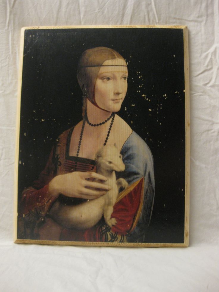 LADY WITH an ERMINE wood board, wood wall art, Handmade wood print. Home decor, Renaissance Art di KnockOnWoodCraft su Etsy