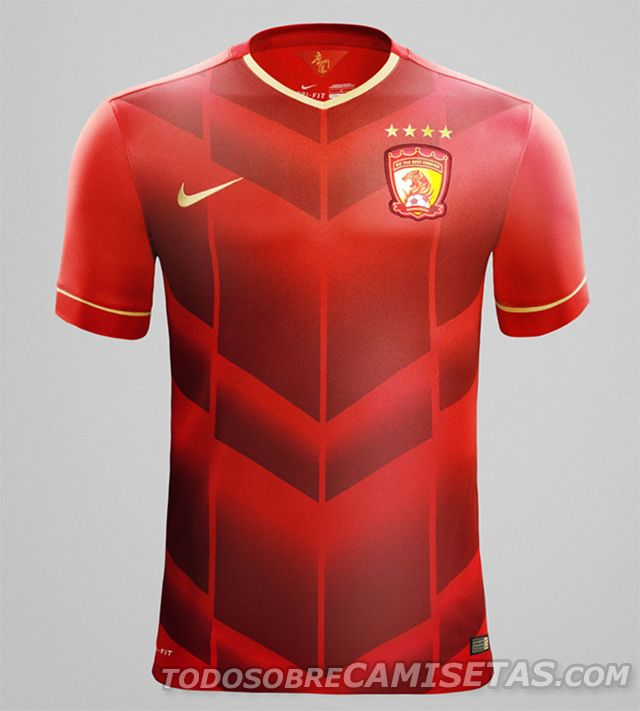 Guangzhou Evergrande 2015 Nike Home Kit | Todo Sobre Camisetas Todo Sobre Camisetas