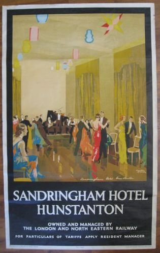 Sandringham Hotel Hunstanton Norfolk Vintage Vagabondry Pinterest Discover More Ideas About And Railway Posters