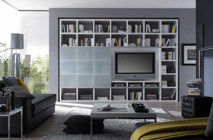 TV-kast op maat met schuifdeur in matglas - Kasten op maat - Kasten - Lundia