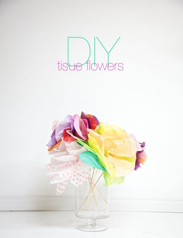 DIY Tissue Flowers!