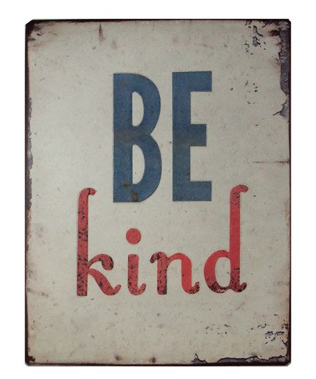 Because inviting in kindness is always a good thing. :: 'Be Kind' Metal Wall Sign