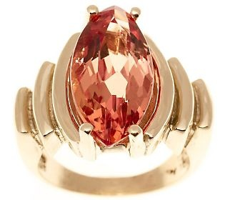 Estate Jewelry Marquise Imperial Topaz Ring 14KGold, C. 1940s. Click pic to purchase.