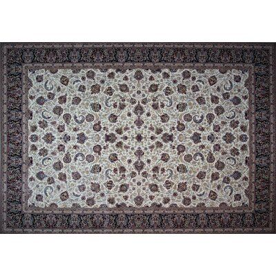 Astoria Grand Cates Hand Look Persian Wool Ivory Brown Red Area Rug Beige Area Rugs Purple Area Rugs Area Rugs