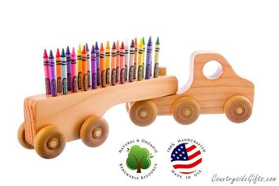 Crayon Holder  Wooden Truck Crayon Holder  by countrysidegiftsllc, $24.95