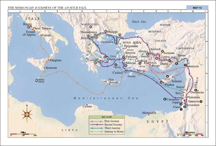 Missionary Journeys of the Apostle Paul
