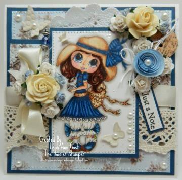 Just A Note OOAK Card Sherri Baldy Image by thehoosierstamperhandmadeooakcards for $12.95