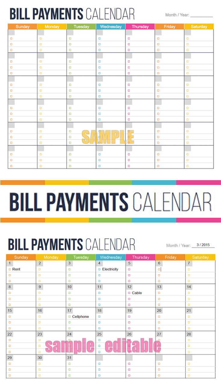 see your bills due dates at a glance  bill payment