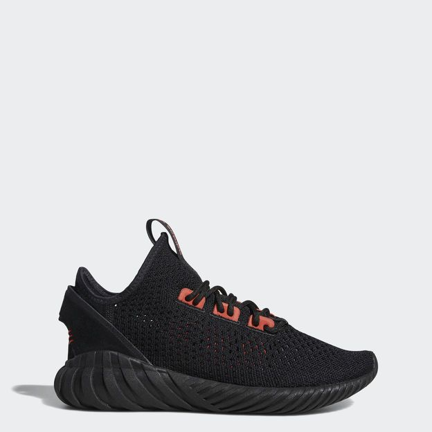 Schwarz Adidas Originals Tubular Doom Primeknit Schuhe