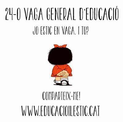 Educació i les TIC: 11 imatges per participar a la Vaga