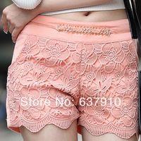 Nuevo 2014 mujer de las bragas de talle alto encaje pantalones corto mujer pyrex pantalones corto feminino mujer bermudas pantalones corto