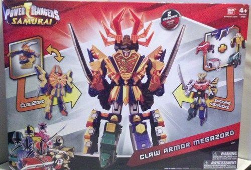 Amazon.com: Power Rangers Samurai Deluxe DX Action Figure 2Pack Claw Armor Megazord: Toys & Games