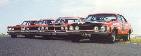 The classic Ford GTHO phase 3 with it's other brothers ..... this is classic Australian muscle cars at it's best - if you want to find out more information about The Ford gtho phase 3, the clubs, and the people that will keep your beauty on the road, come to  http://carworldnetwork.com/ford-gtho-phase-3/