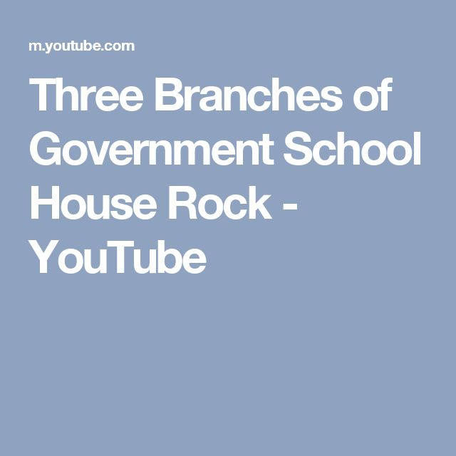 Three Branches of Government School House Rock - YouTube