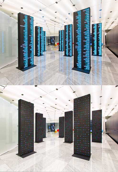 Telefonica Flagship Store Barcelona  EXIT DESIGN — some works  Mobile world centre Barcelona