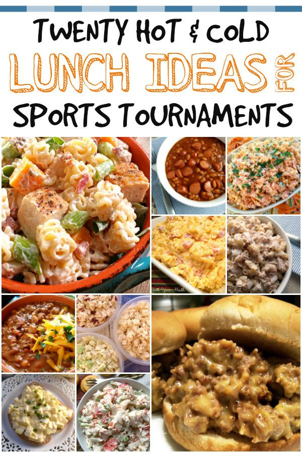 Meal Ideas For Packing Lunches For Baseball Softball Soccer And Other Sports Tournaments Tournament Food Sports Food Cold Lunches