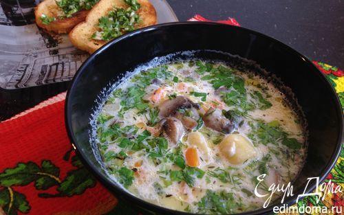 Молочный суп с грибами | Кулинарные рецепты от «Едим дома!»