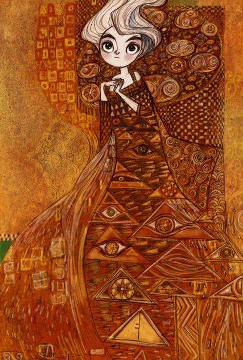 #klimt: Illustrations Art, 6 Illustrations Digital, Animal Illustrations, Kells Art, Concept Art, Animal Illustration2, Klimt Inspiration, Art Illustrations How, The Secret