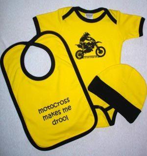 Motocross Baby Gift Set