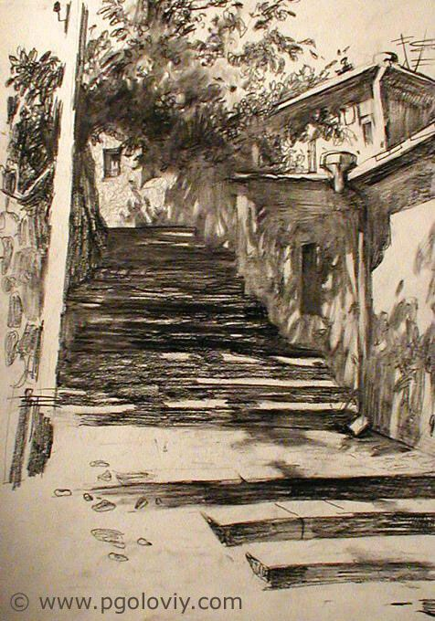 Pavel Goloviy (Головий Павел)drawing_alupka_street