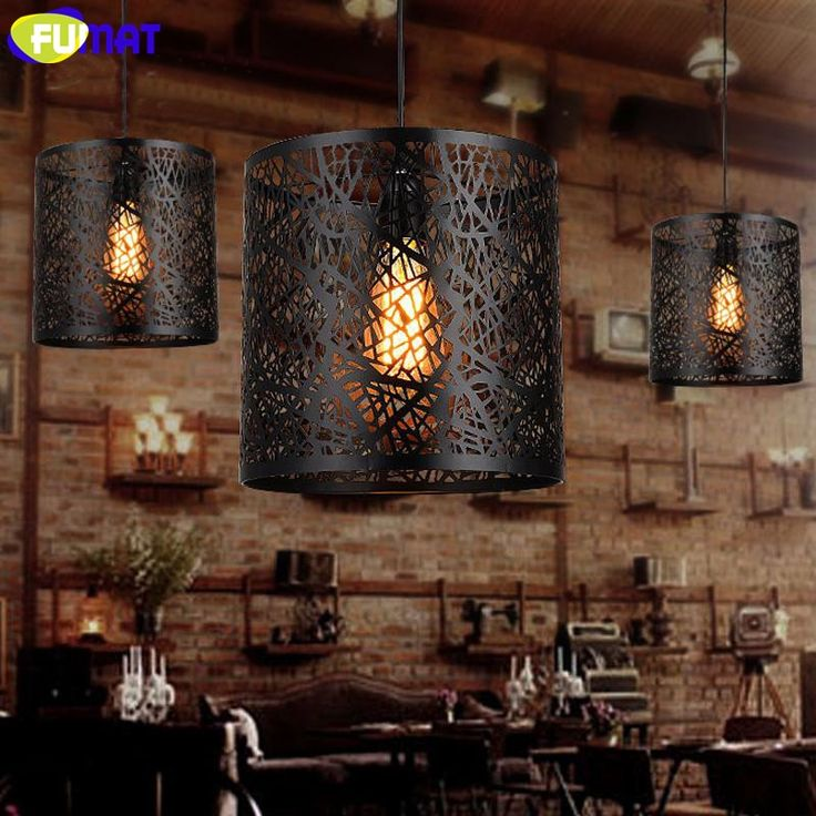 116.22$  Buy here - http://alicev.shopchina.info/1/go.php?t=32815043238 - FUMAT Hollow Kitchen Pendant Light Retro Iron Bar Single Head Dinning Room Light Loft American Country Antique Pendant Lamps 116.22$ #SHOPPING