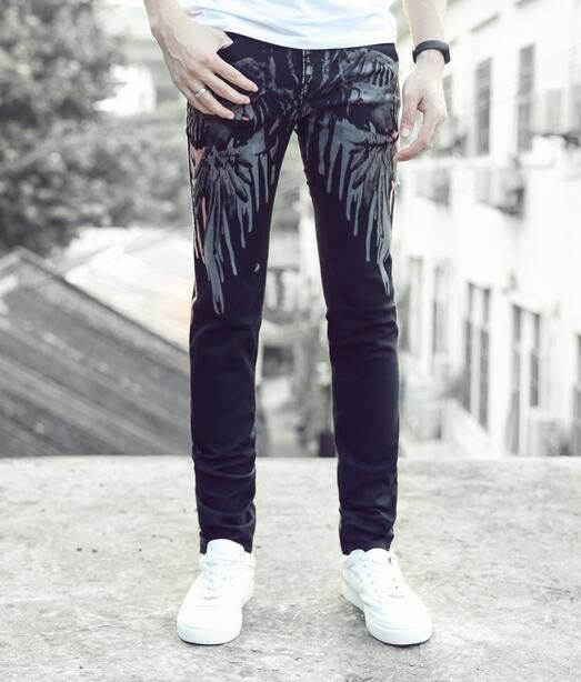 England black straight wing printing feet pants man fashion true jeans men famous brand mens pants skinny jeans men trousers     Tag a friend who would love this!     FREE Shipping Worldwide     Buy one here---> http://onlineshopping.fashiongarments.biz/products/england-black-straight-wing-printing-feet-pants-man-fashion-true-jeans-men-famous-brand-mens-pants-skinny-jeans-men-trousers/