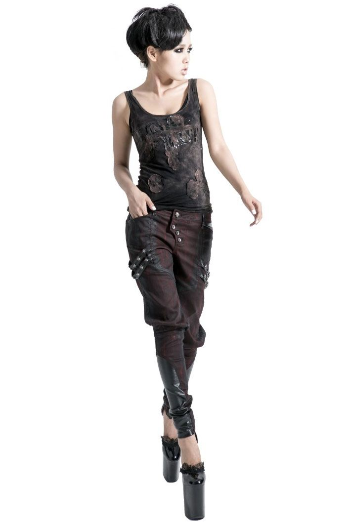 Pantalon Rouge trousers by Punk Rave http://www.alterneo.cz/detail/322-kalhoty-pantalon-rouge-punk-rave.html