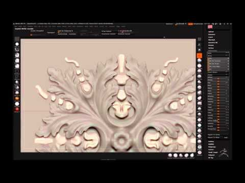 Zbrush: Video of Digital sculpting of rosette