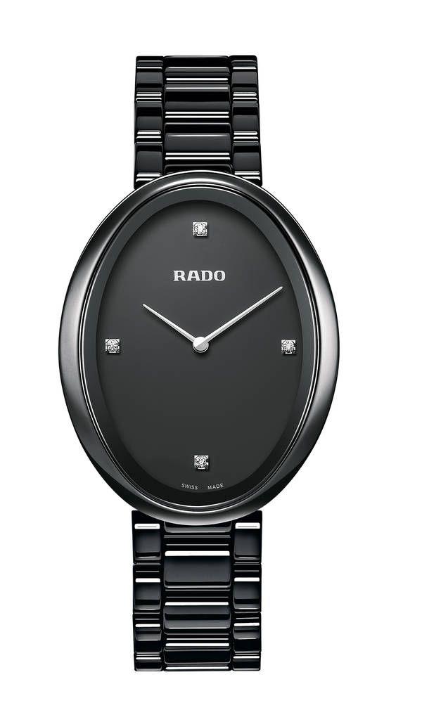Nuevo reloj Rado Esenza Touch para mujer.: Reloj Rado Esenza Touch para mujer en cerámica negra brillo y diamantes en esfera. (ref. 277_0093_3_071)