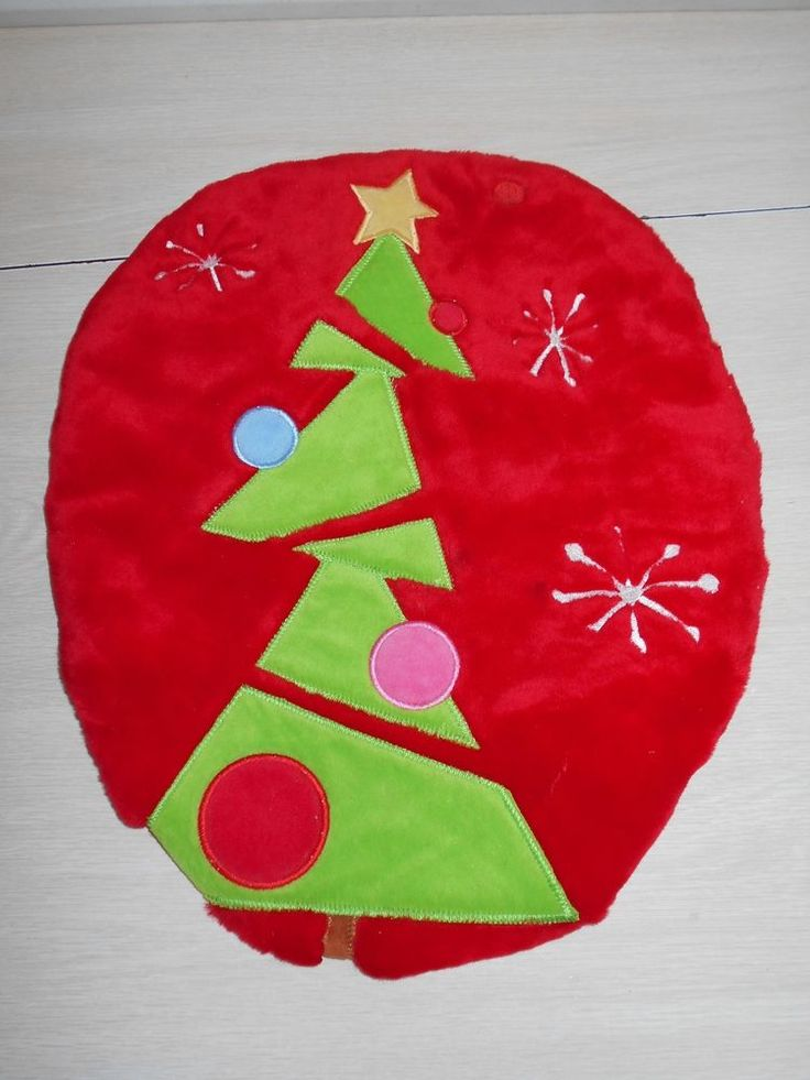 Christams Tree Toilet Seat Cover Novelty Red Bathroom Christmas Holiday Cover #Unbranded